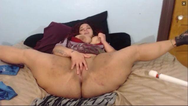 Bbw super flexible con piernas abiertas