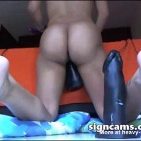 Latina con el culo grande