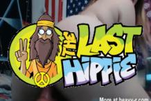 Hippie traviesa y perversa con un culo enorme