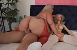 BBW Tiffany Star Trío Con Juguete Sexual Sean Lawless