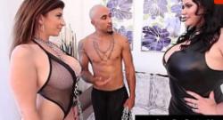 Cubana Angelina Castro y King Noir sexo con Sara Jay