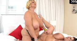 Tetonas BBW Pornstars Samantha 38G, Maria Moore sexo lésbico