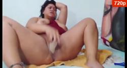 Bbw coño gordo dildo show
